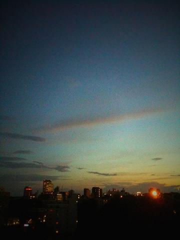 ある日の夕焼け(iPhone)