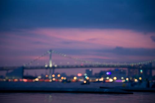 夕焼けの東京湾