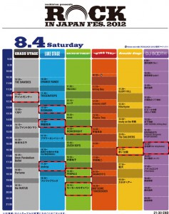 ROCK IN JAPAN FES 2012 2日目