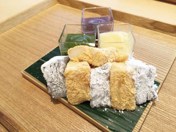 本わらび餅 白玉 三色餡添へ(1,500円)