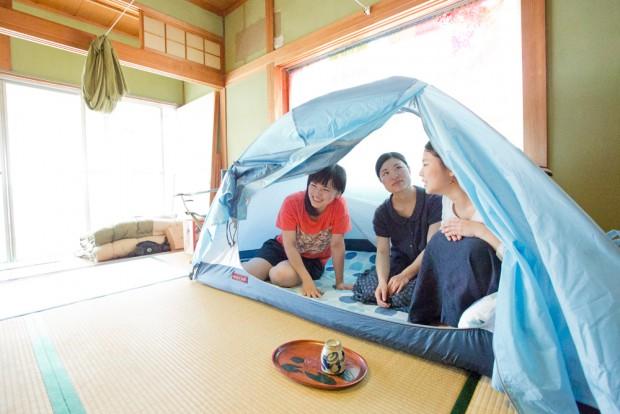 和室でテントに入っておしゃべりするのも楽しそう