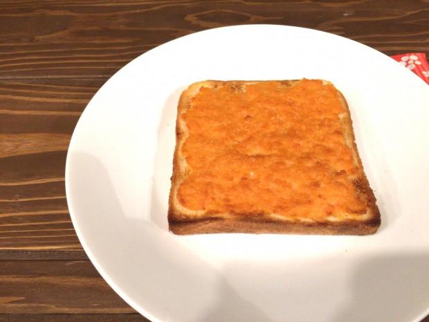花の「シャケトー」(鮭のマヨネーズトースト、500円)