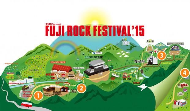 ステージ・施設|フジロックフェスティバル '15の会場マップにトイレ位置を追記