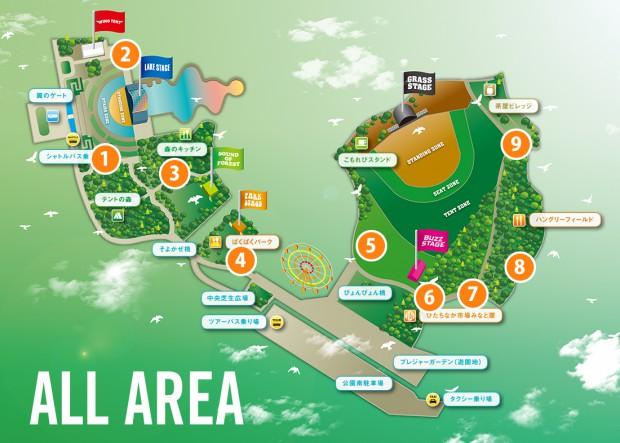 ROCK IN JAPAN FESTIVAL 2015 - rockin'on Inc.の会場マップにトイレ位置を追記